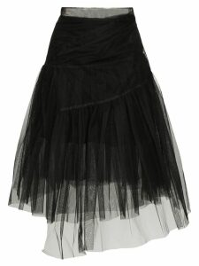 Shushu/Tong asymmetric layered midi skirt - Black