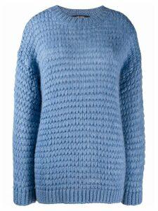 Twin-Set loose weave jumper - Blue