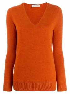 Gentry Portofino cashmere v-neck jumper - Orange