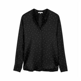 Vince Polka-dot Silk Blouse