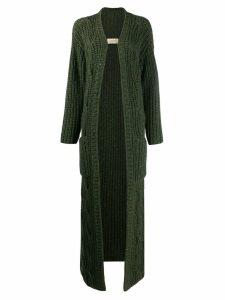 Gentry Portofino chunky knit cashmere cardi-coat - Green