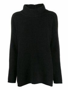 Iris Von Arnim waffle-knit jumper - Black