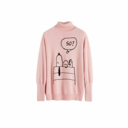 Chinti & Parker Pink Snoopy So Cashmere Sweater