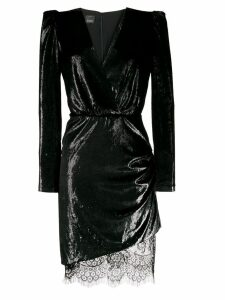 Pinko metallic sheen mini dress - Black