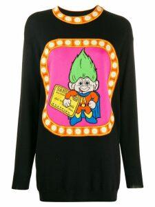 Moschino knitted jacquard troll dress - Black