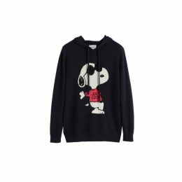 Chinti & Parker Navy Snoopy Be Cool Cashmere Hoodie