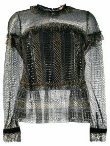 Twin-Set sheer blouse - Black
