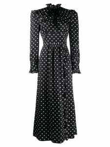 Alessandra Rich ruffled polka dot dress - Black