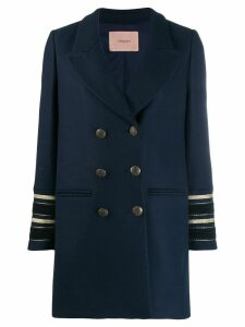 Twin-Set double beasted pea coat - Blue