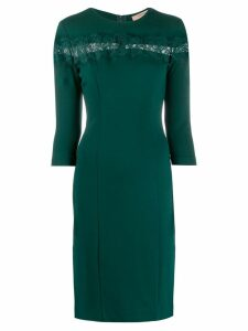 Twin-Set lace panel fitted dress - Green