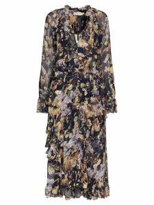 Zimmermann Midnight Wisteria floral print midi dress - Blue