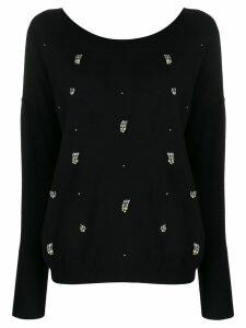 LIU JO crystal-embellished jumper - Black