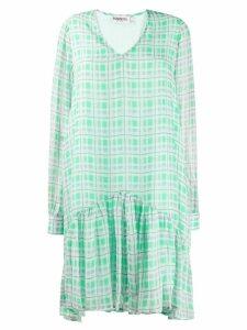 Essentiel Antwerp Tori check flared dress - Green