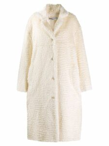 Katharine Hamnett London Velma bio fur coat - White