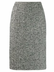 Red Valentino herringbone pencil skirt - Black