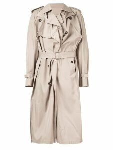 Y/Project asymmetric trench coat - Neutrals