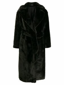 Tagliatore faux fur midi coat - Green