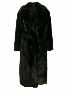 Tagliatore faux fur midi coat - Green