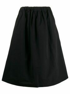 Plan C A-line midi skirt - Black