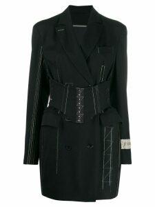 Ruban Jacket dress with corset - Black
