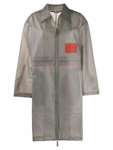 A-Cold-Wall* sheer Mac raincoat - Grey
