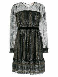 Twin-Set metallic sheer dress - Black
