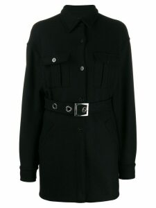 Pinko belted single-breasted coat - Black