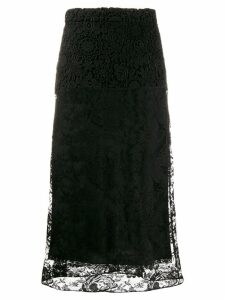 Prada lace midi skirt - Black