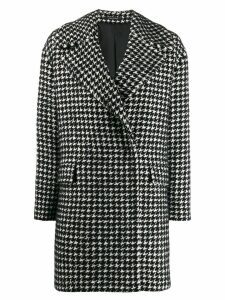 Tagliatore houndstooth short coat - Black
