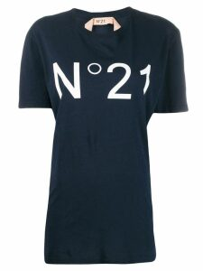 Nº21 logo printed T-shirt - Blue