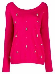 Liu Jo crystal-embellished jumper - Pink