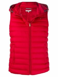 Tommy Hilfiger hooded puffer gilet - Red