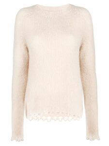 Tela crescent knit hem jumper - Neutrals