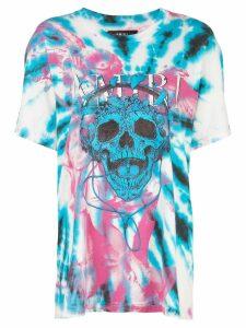 Amiri skull print tie-dye T-shirt - Blue