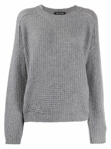 Iris Von Arnim waffle-knit jumper - Grey