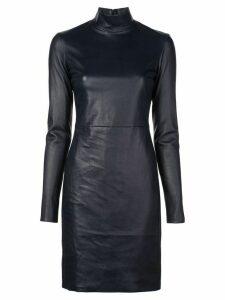 The Row roll neck dress - Blue