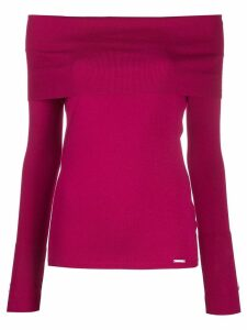 Liu Jo off-shoulder jumper - Pink