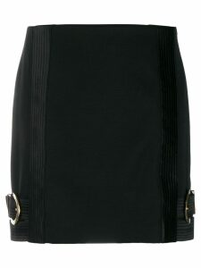 Versace fitted side buckles short skirt - Black