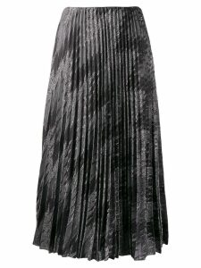 M Missoni zigzag metallic pleated skirt - Grey