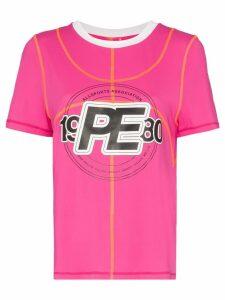 P.E Nation double dribble logo T-shirt - Pink