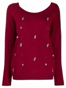 Liu Jo crystal embellished jumper - Red