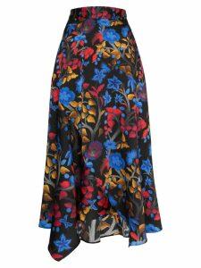 Peter Pilotto floral silk midi skirt - Multicolour