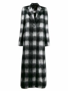 Maison Margiela checked textured long coat - Black
