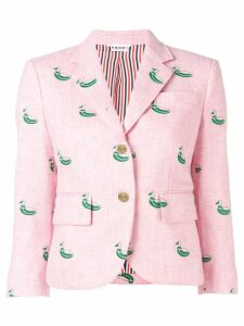 Thom Browne Duck Embroidered Pink Sport Coat