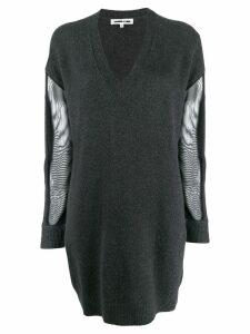 McQ Alexander McQueen mesh sleeve dress - Black