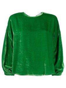 Roseanna velvet dropped shoulder top - Green