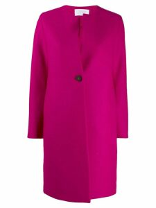 Harris Wharf London single breasted collarless coat - Pink