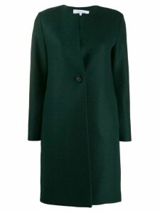 Harris Wharf London single breasted collarless coat - Green