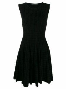 Antonino Valenti geometric check skater dress - Black
