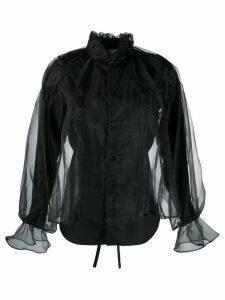 Comme Des Garçons Noir Kei Ninomiya layered sheer shirt - Black